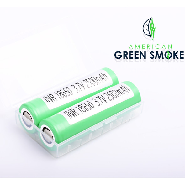 SAMSUNG 18650 BATTERY 2500mAH WITH (CASE OF 2 COUNT) (MSRP $9.99 EACH)