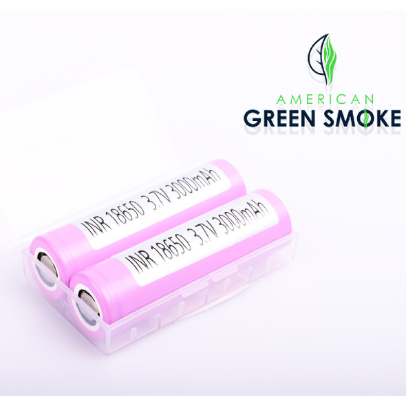 SAMSUNG 18650 BATTERY 3000mAH WITH (CASE OF 2 COUNT) ( MSRP $11.99 EACH)