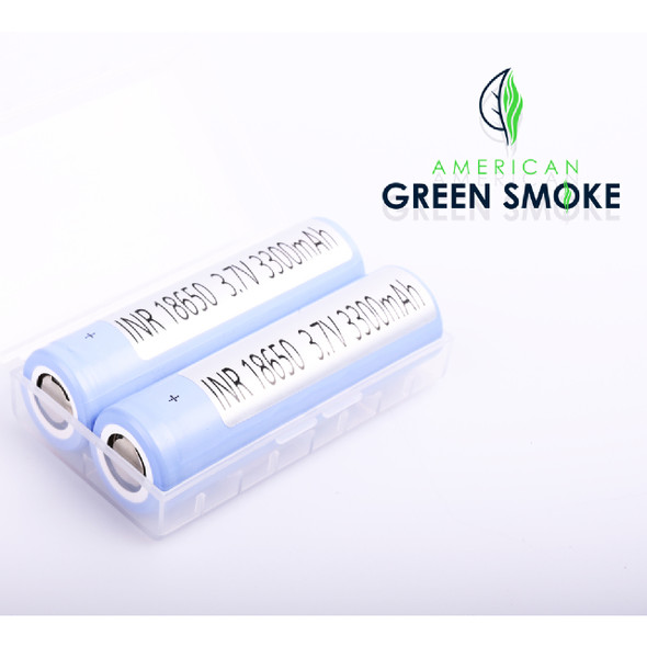 SAMSUNG 18650 BATTERY 3300mAH WITH (CASE OF 2 COUNT) (MSRP $14.99 EACH)