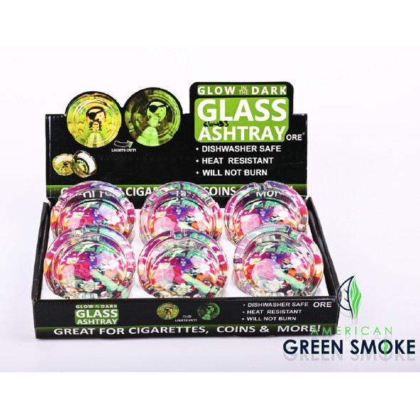 RM SUPER HERO - GLOW IN THE DARK ASHTRAYS (DISPLAY OF 6 COUNT) (MSRP $4.99 EACH)