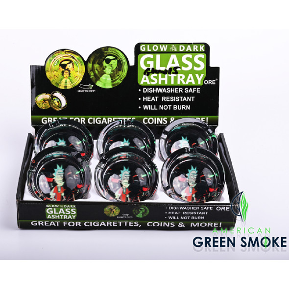 RM ARRESTED - GLOW IN THE DARK ASHTRAYS (DISPLAY OF 6 COUNT) (MSRP $4.99 EACH)