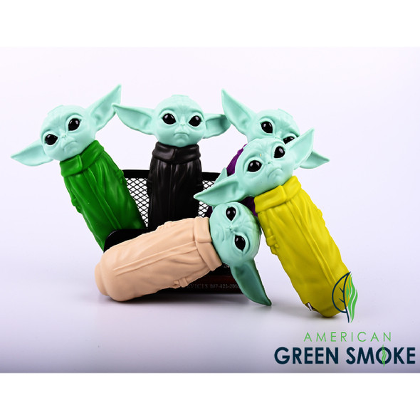 SILICON BABY YODA HANDPIPE ASSORTED (MSRP $14.99 EACH)