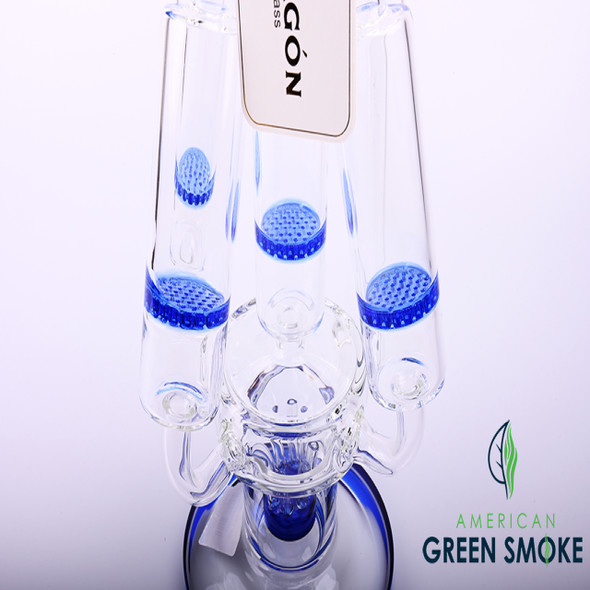 """DRAGON GLASS 19"""" 5MM HEAVY WATERPIPE WITH 4 CHAMBERS (MSRP $139.99 EACH)"""