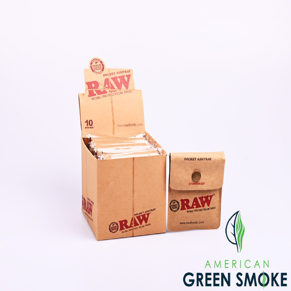 RAW POCKET ASH TRAY - BOX OF 10 COUNT (MSRP $2.49 EACH)
