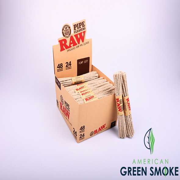RAW HEMP PIPE CLEANERS SOFT  BOX OF 24 COUNT (MSRP $2.99 EACH)
