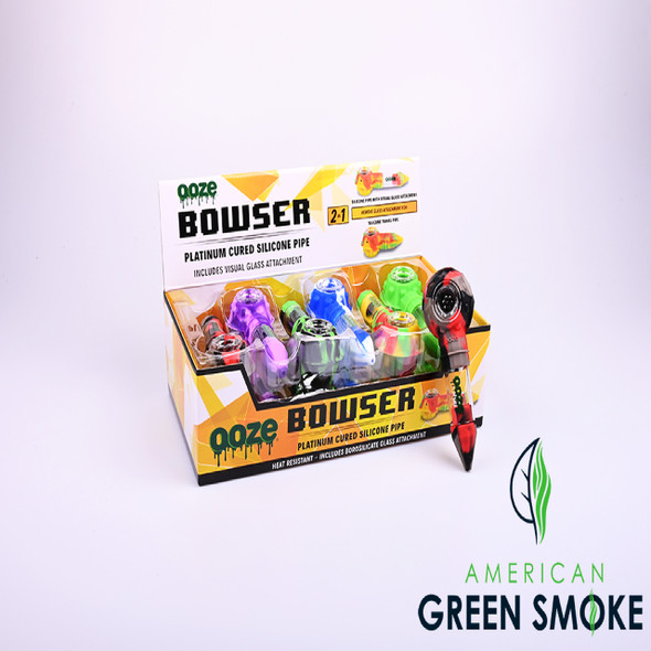 OOZE BOWSER 2 IN 1 SILICONE PIPE DISPLAY - BOX OF 12 COUNT(MSRP $14.99 EACH)