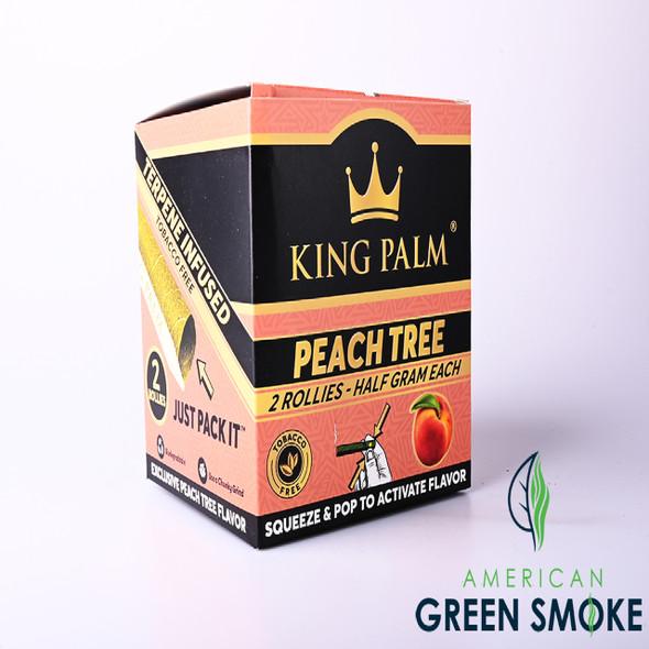 KING PALM  PEACH TREE 2 ROLLIES HALF GRAM - BOX OF 20 POUCHES (MSRP $1.99 EACH)