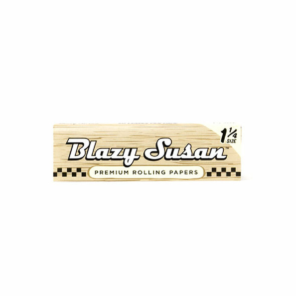 BLAZY SUSAN UNBLEACHED ROLLING PAPERS 1 1/4 PACK OF 50 COUNT (MSRP $1.99 EACH)