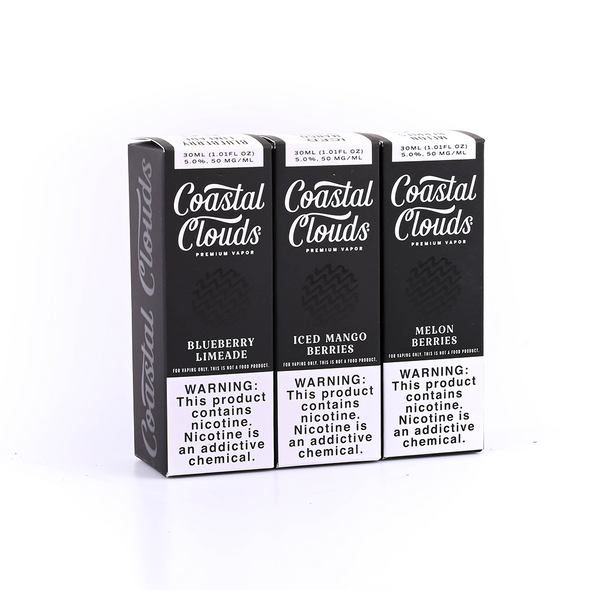 COASTAL CLOUDS  50MG SALT NICOTINE E-LIQUID 30ML (MSRP $19.99 EACH)