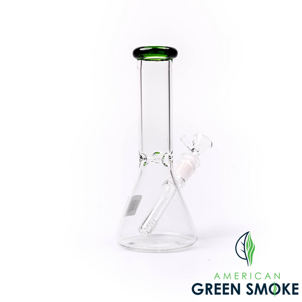 """GLASS 8"""" INCH HEAVY CLEAR COLOR  RIM WATER PIPE (MSRP $29.99 EACH)"""