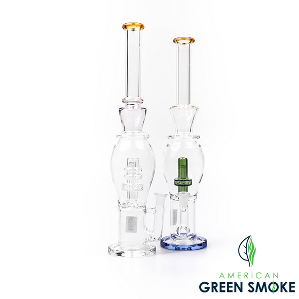 """GLASS 16"""" INCH ROUND BODY GLASS WATERPIPE (MSRP $89.99 EACH)"""