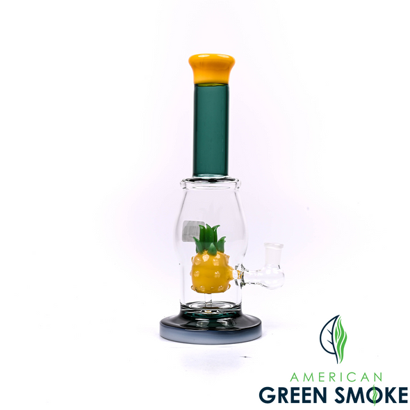 9.5 INCH GLASS YELLOW PINEAPPLE WATER PIPE (MSRP $59.99 EACH)