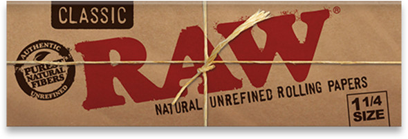 RAW - CLASSIC 1¼ ROLLING PAPER 24CT (MSRP $2.49 EACH)