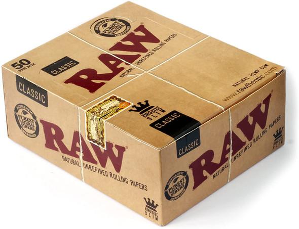 CLASSIC KINGSIZE SLIM ROLLING PAPER RAW(MSRP $2.49 EACH)