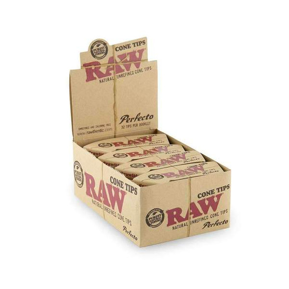 RAW - PERFECTO PRE-ROLLED CONE TIPS (MSRP $1.99 EACH )