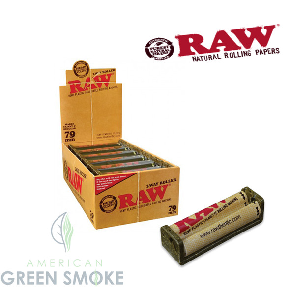 RAW ROLLING MACHINE KING SIZE 79MM 12CT ( MSRP 4.99 EACH )