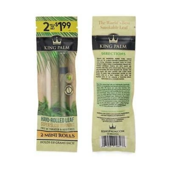 KING PALM -2 MNI ROLLS (20POUCH) (MSRP $49.80)