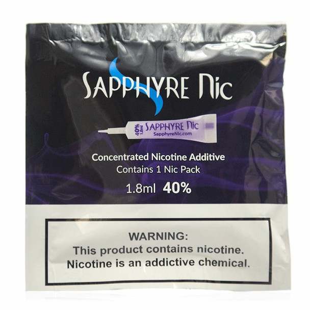 SAPPHYRE NICOTINE 1.8ML 40% (BOX OF 50 COUNT) (MSRP $3.99 EACH)