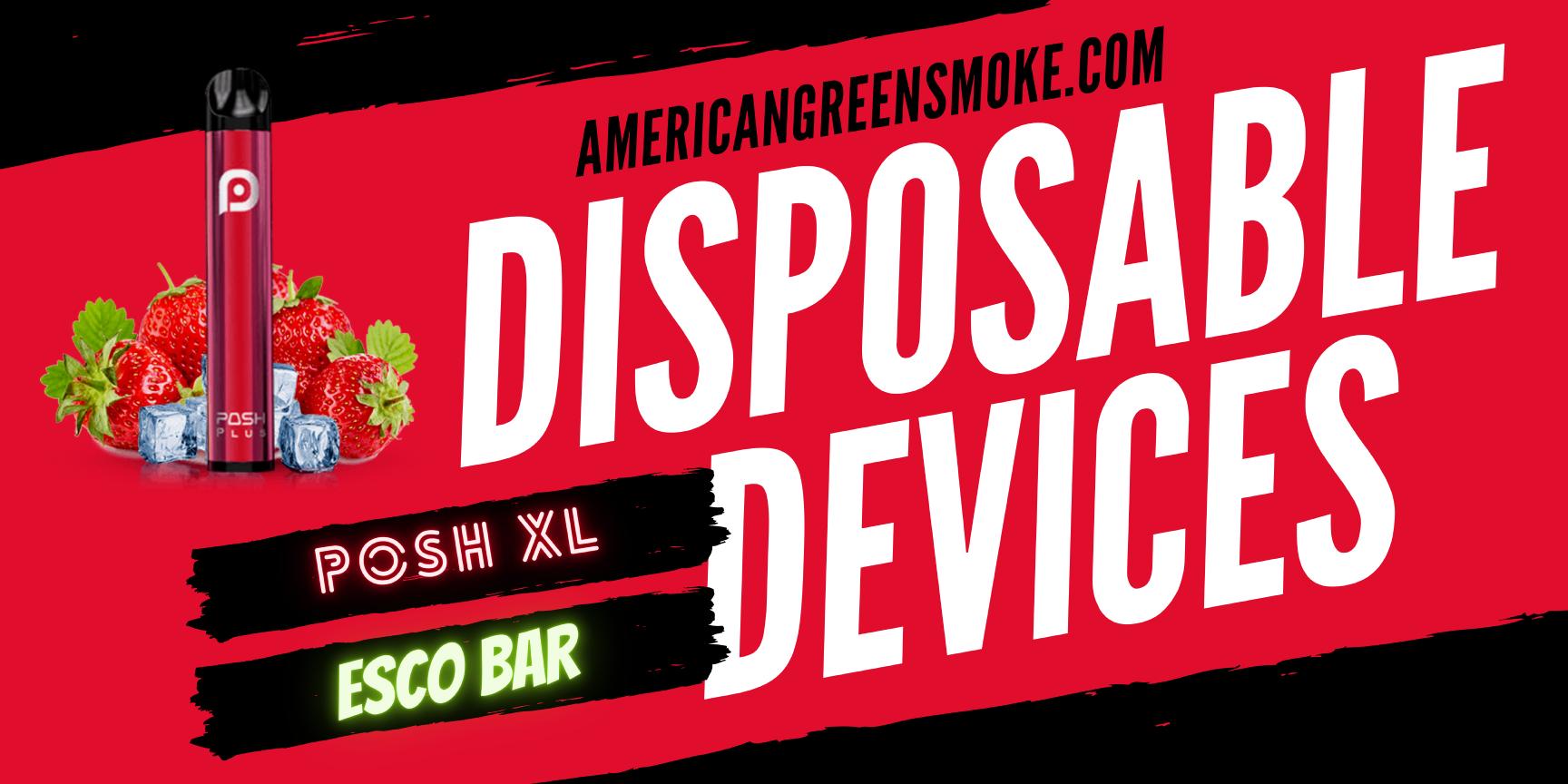 disposables, vape, disposable, device, posh, xl, esco, bar,