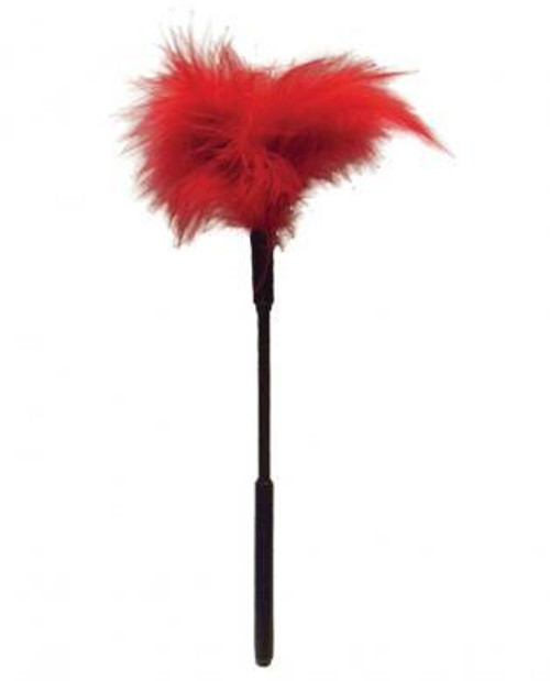 Feather Tickler - Red 7in