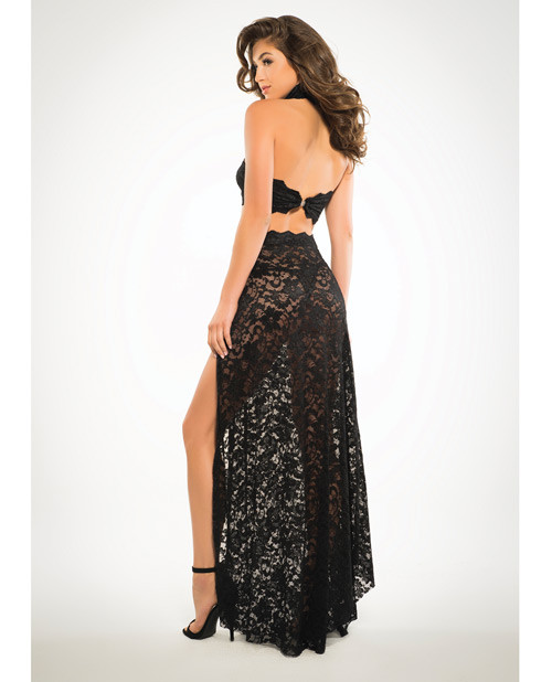 Lace Bandeau Top & Skirt Black MD