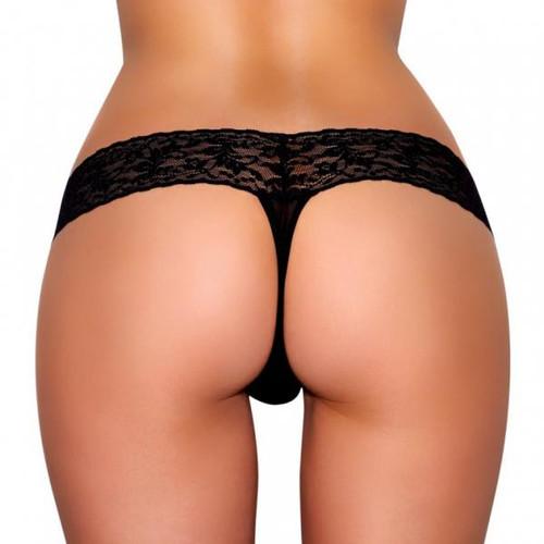 Hustler Vibrating Panties with Hidden Vibe Pocket - Black - SM