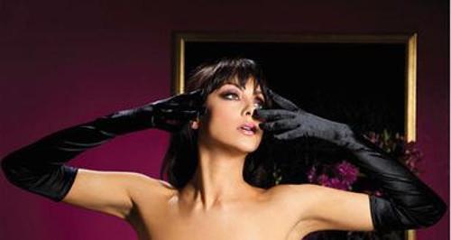 Satin opera length gloves - Black