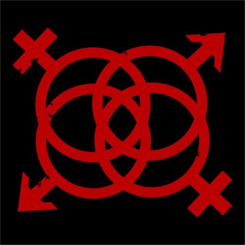 DV8 Swingers Lifestyle motif - set of two die cut decals - Red
