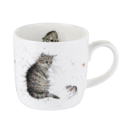 Royal Worcester Cat and Mouse Mug 310ml