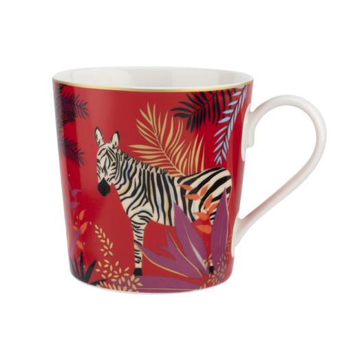 Sara Miller Tahiti Boxed Mug- Zebra