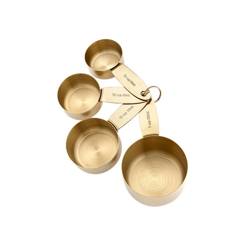Ladelle Lawson Gold set of 4 measuring cups