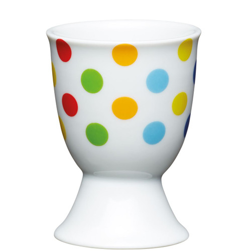 KitchenCraft Bright spotty egg cup