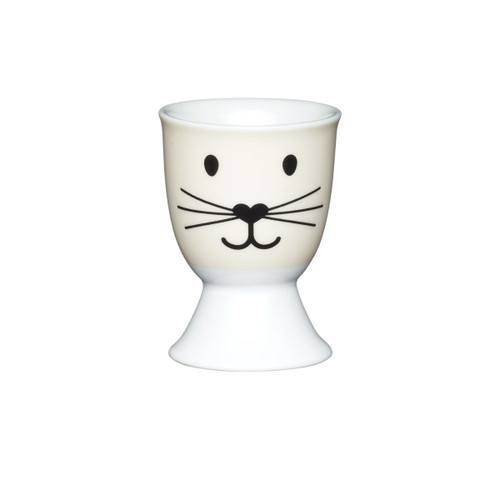 KitchenCraft Cat face egg cup