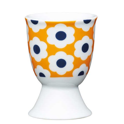 KitchenCraft retro flower egg cup