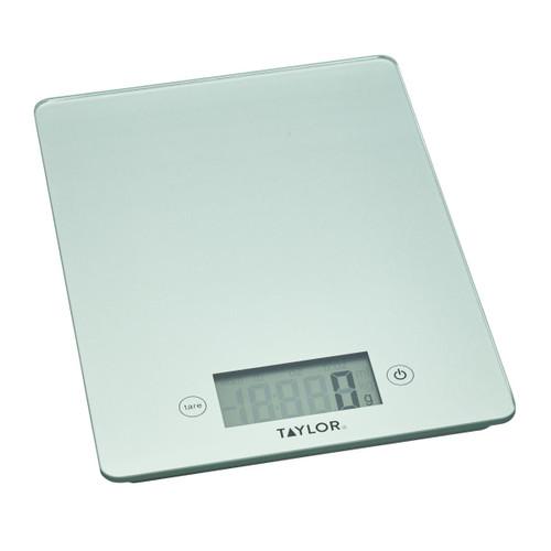 Taylor Pro Sliver Glass 5kg Digital Kitchen Scales
