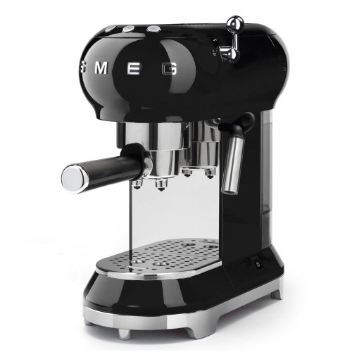 Smeg Espresso Machine with Milk Frother - Black