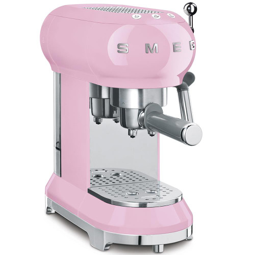 Smeg Espresso Machine with Milk Frother - Pink