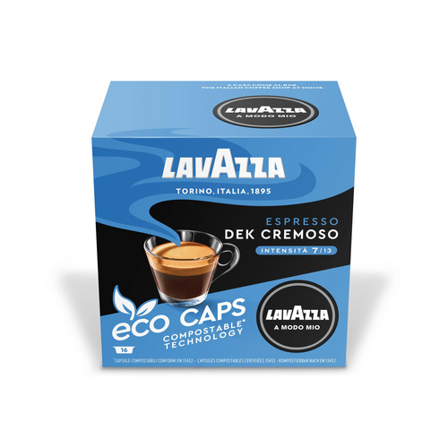Lavazza Dek Cremoso Eco Capsules Pack of 16