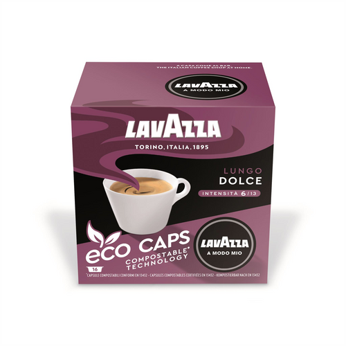 Lavazza Lungo Dolce Eco Capsules Pack of 16