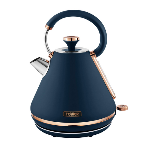 Tower Cavaletto Midnight Blue & Rose Gold 1.7L 3KW Kettle