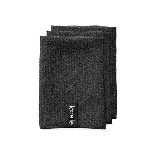 Ladelle Mircrofibre Dishcloth 3pk Black