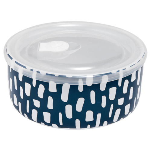 Ladelle 16cm Ceramic Microwave Food Bowl Abode Ink Blue