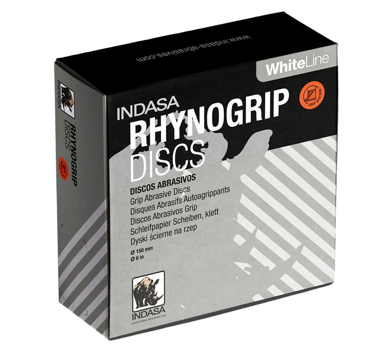 INDASA RYNOGRIP WHITELINE 150mm 6 INCH DA DISCS (50)