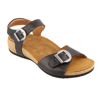 These sandals provide a lightweight comfort  and custom fit for your feet. Available in Black and Hazelnut