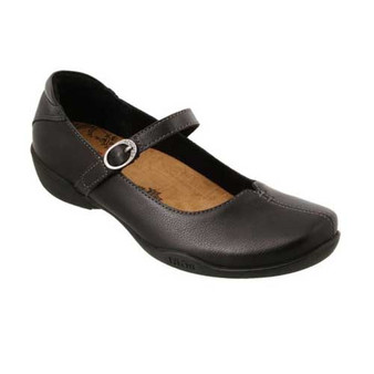Ta Dah is a mary jane casual that includes style and comfort.  Highlighted by rich leather uppers and leather linings, Taos Curves and Pods® premium removable footbed, and a flexible rubber outsole.  Available in Black and Silver