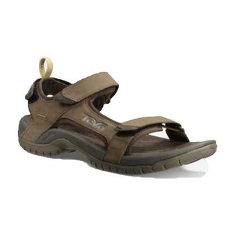 Teva Tanza Leather Sandal stands up to adventurous spirits. Available in Brown