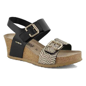 LISSANDRA wedge sandal offers summery style and luxurious comfort. Available in Black, Camel and Nickel