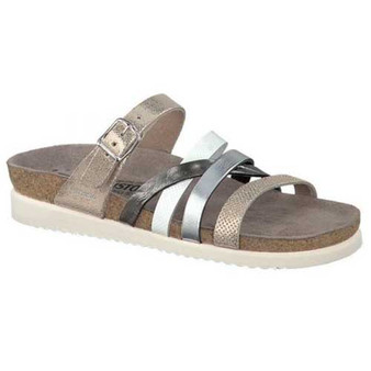 Mephisto Huleda Platinum sandals add style and glamour to your footwear collection. Available in Platinum
