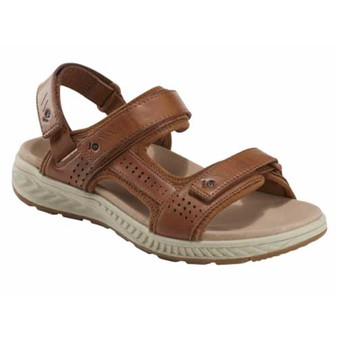 MIRA ZORE sandal is exceptionally light, incredibly supportive and wonderfully adjustable. Available in Black Leather and Alpaca 2 Leather