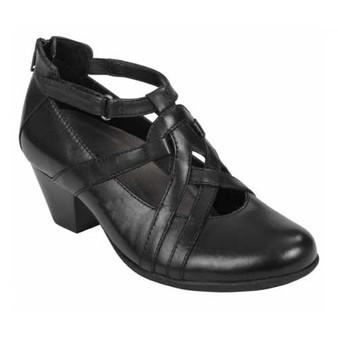 Virtue shoes provide comfort and style with reinforced arch support for all-day comfort. Available in Black Soft Leather